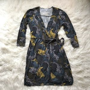 FRENCH CONNECTION UK STYLE LONG SLEEVE WRAP DRESS